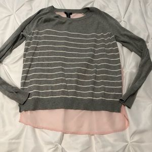 Gap sweater with sheer back